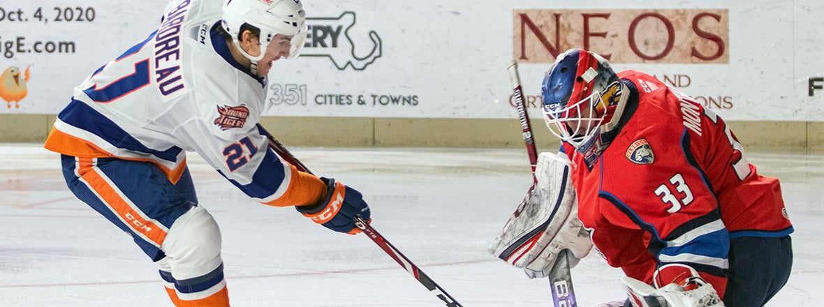 Sound Tigers Kept Quiet in 4-0 Loss to T-Birds