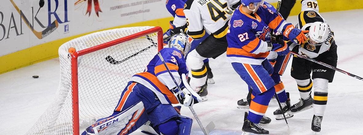 Gibson Blanks Bruins in 2-0 Win